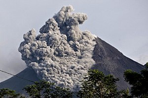Indonesia's Mount Merapi Erupts For A Second Time In Three Days