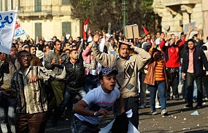 Anti-Government Protesters Clash With Pro-Mubarak Demonstrators