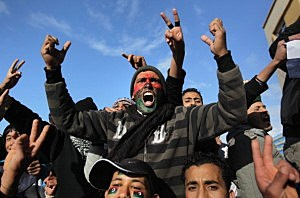 Anti-Gaddafi Protests Continue To Grow In Libya
