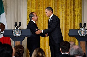 Obama And Mexican President Calderon Hold Joint News Conf. At White House