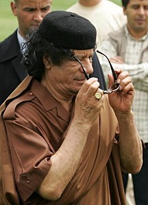 Vladimir Putin Meets With Libyan Leader Moamer Kadhafi