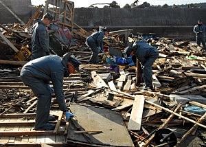 U.S. Marines Aid In Cleanup On Oshima Island