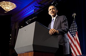 President Barack Obama Speaks At DNC Fundraiser