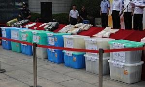 Police Destroy Drugs In Beijing
