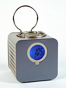 Alarm clock with radio.