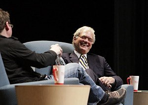 David Letterman And Twitter Co-Founder Biz Stone Discuss Social Media.