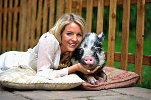 Lydia Bright And Mr Darcy Campaign For PETA