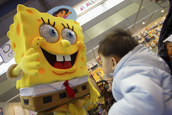 spongebob is bad for kids I don't like spongebob squarepants i generally regard any parent who does like spongebob squarepants with suspicion and derision they probably watch real housewives of fresno or whatever city that show is down to now so when i see an article claiming spongebob is bad for kids and i may have a.