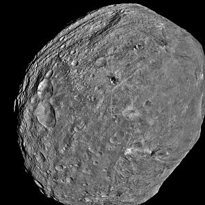 NASA's Dawn Spacecraft Sends back Pictures Of Vesta Asteroid