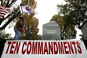 Banished Alabama Ten Commandments Arrive In Washington