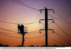 Mercury energy contractors check progress on the i