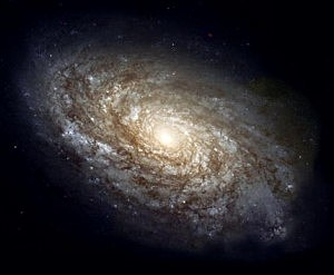 Hubble Space Telescope photo of spiral galaxy NGC 4414