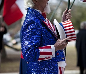Tea Party Groups Hold Rally At Texas State Capitol
