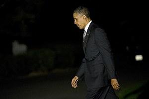 President Barack Obama Returns To The White House