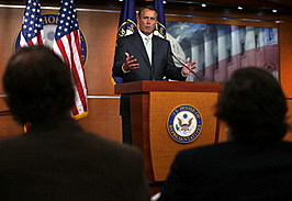 House Speaker Boehner Holds Weekly News Conference