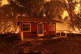 Wild Fire Burns Homes In Lake Hughes, California