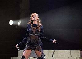 Rihanna And A$AP Rocky Perform At The Staples Center