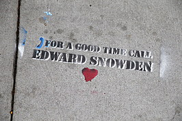 Graffiti Sympathetic To NSA Leaker Edward Snowden Appears In San Francisco