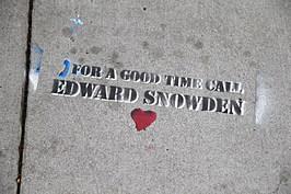 Graffiti Sympathetic To NSA Leaker Edward Snowden Appears In San Francisco