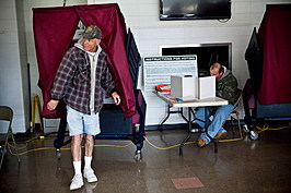 Voters Affected By Superstorm Sandy Go To The Polls