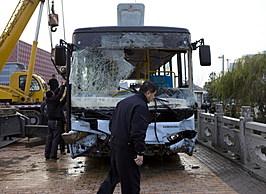 A Bus Crashes Into A River In Suzhou