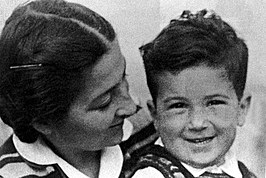 Ehud Barak As A Child With His Mother Ester In Kibbutz Mishmar Hasharon Israel Photo F