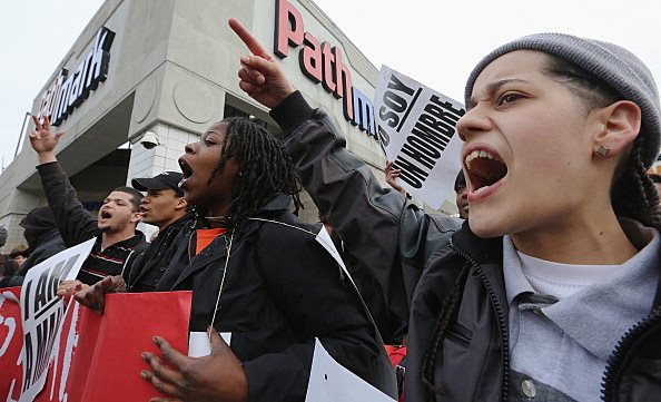 Fast Food Workers Demonstrate For Increased Wages