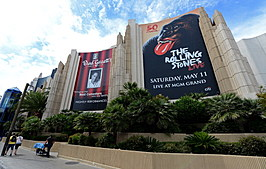 Rolling Stones Concert Advertised At The MGM Grand In Las Vegas