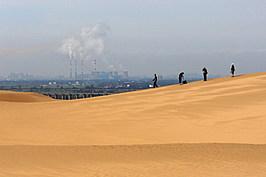 Sounding Sand Desert In Inner Mongolia