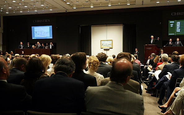 Christie's Holds Auction Featuring Works By Warhol, Monet, And Rothko
