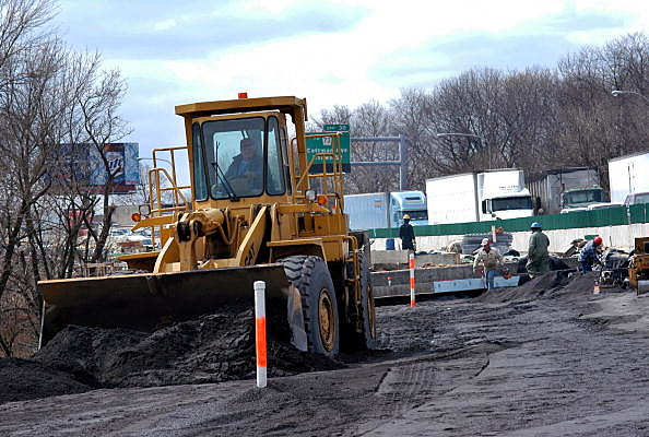 Major Highway Re-construction Continues On Interstate 95 In Philadelphia