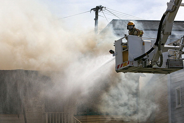 House Fire Rages In Newtown