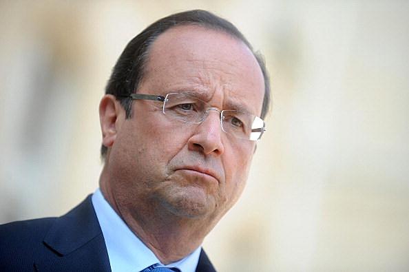 French President Francois Hollande Meets Ahmad Al-Assi Al-Jarba, Leader Of Syrian National Coalition