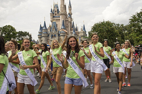 Miss America 2014 Contestants Are Honored At Walt Disney World