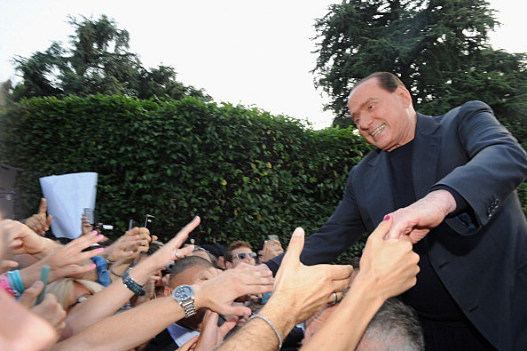 PdL Party Members Gather At Villa Arcore In Support Of Silvio Berlusconi
