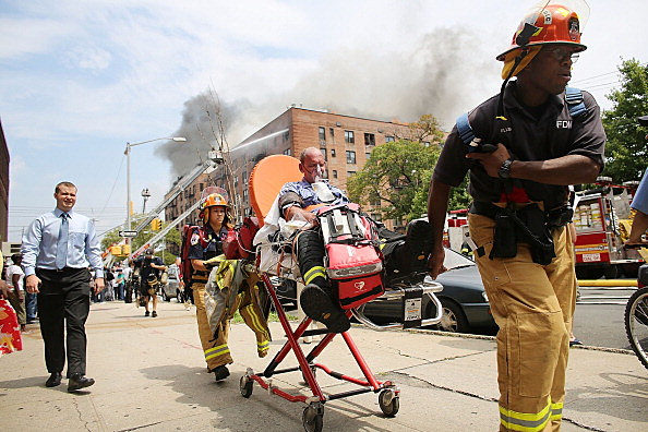 Six Alarm Fire Rages In Brooklyn