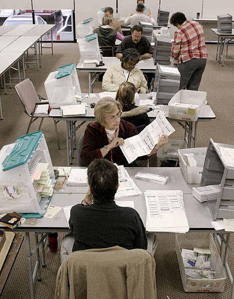 Arizona Officials Count Early Ballots