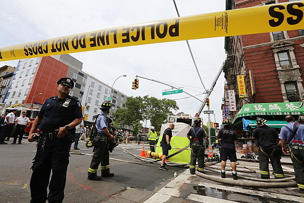 Explosion Causes Building Collapse In New York's Chinatown