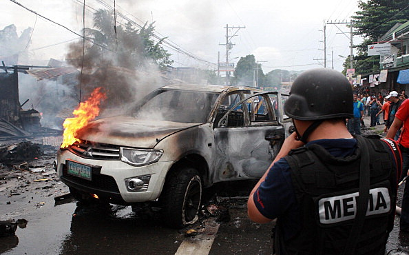 Philippine Car Bomb Explodes On Busy Street Killing Six People