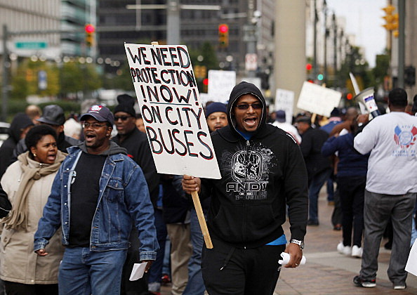 Detroit Bus Drivers Hold Work Stoppage, Protest Working Conditions