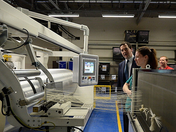 George Osborne Visits Hainsworth Factory After GDP Results