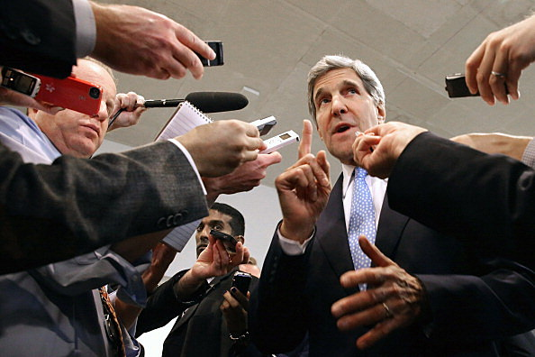 John Kerry Visits Capitol Hill To Brief On Iran And P5+1 Negotiations