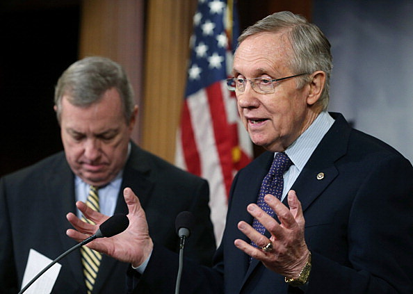 Senate Democrats Hold News Conference On Budget Deal