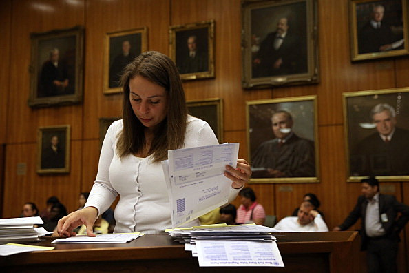 Immigrants Sworn In As U.S Citizens At Brooklyn Courthouse