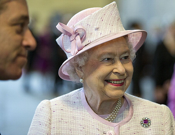 The Queen Visits Westminster Hall To View The Diamond Jubilee Window
