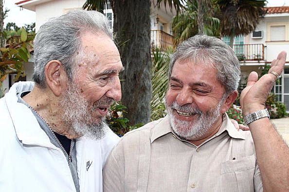 Fidel Castro Receives Lula