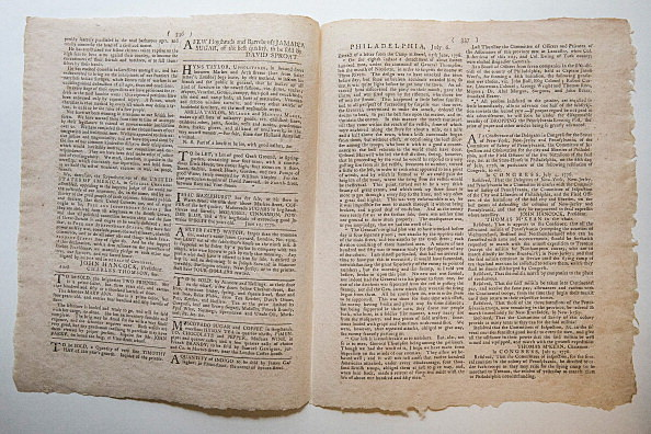 First Newspaper Printing Of The Declaration Of Independence Auctioned In New York