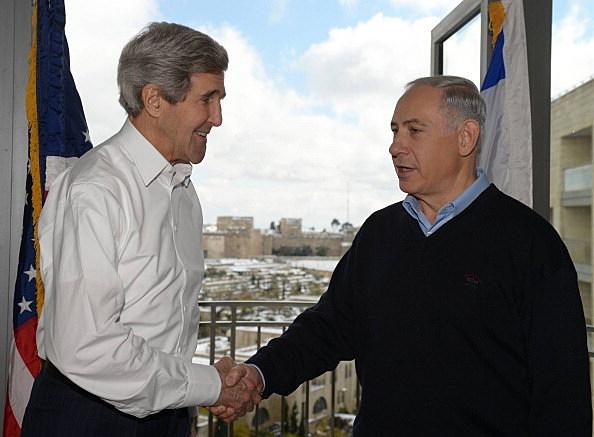 Israeli Prime Minister Benjamin Netanyahu U.S. Secretary of State John Kerry Meet