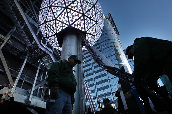 New York Rehearses Ball Drop Ahead Of New Years Eve Celebration