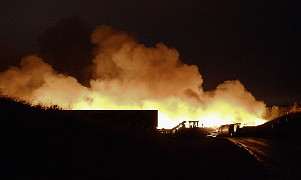 Huge Fire At Recycling Plant In Sherburn-in-Elmet